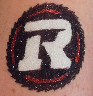 RedBlacks Glitter Tattoo