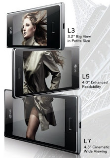 LG Optimus L7, L5 and L3 to be shown at MWC 2012