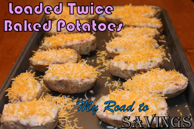 Learning the Ropes...One Recipe at a Time: Loaded Twice Baked Potatoes