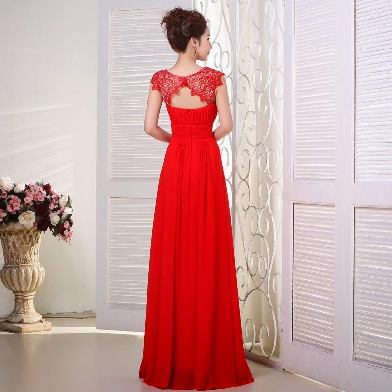 Buy red evening dress online