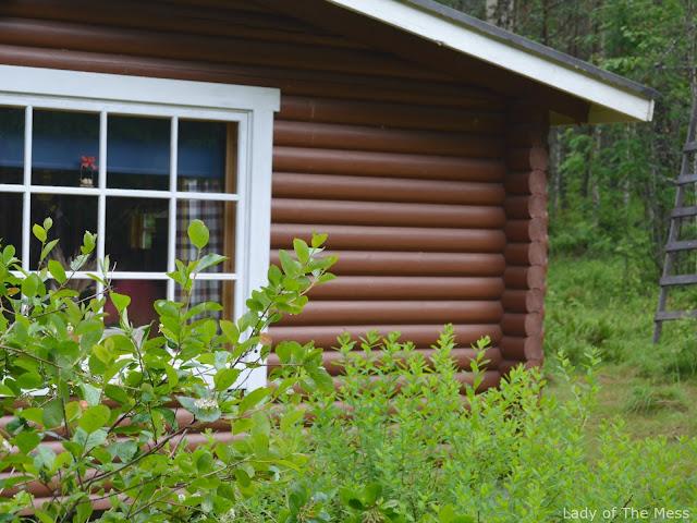 kesämökki, hirsimökki, summer cottage