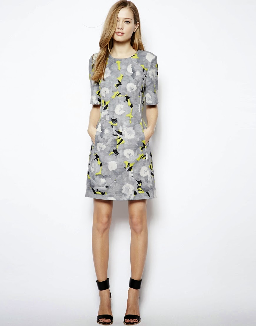 whistles grey dress
