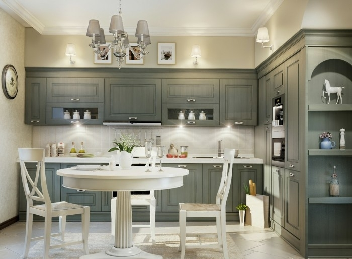 Fotos de cocinas color gris ideas para decorar dise ar for Idea deco para cocina gris