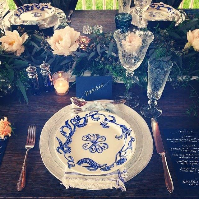 calligraphy wedding table