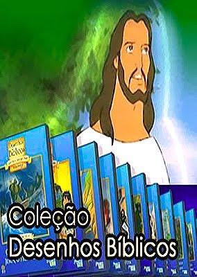 Capa do Coleção Desenhos Bíblicos – Histórias Inesquecíveis – Completo – 18 DVDs – Dublado – Torrentseriados