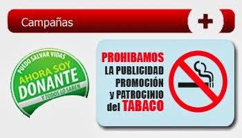 CAMPAÑAS PREVENTIVAS, FUMAR ES NOCIVO PARA LA SALUD
