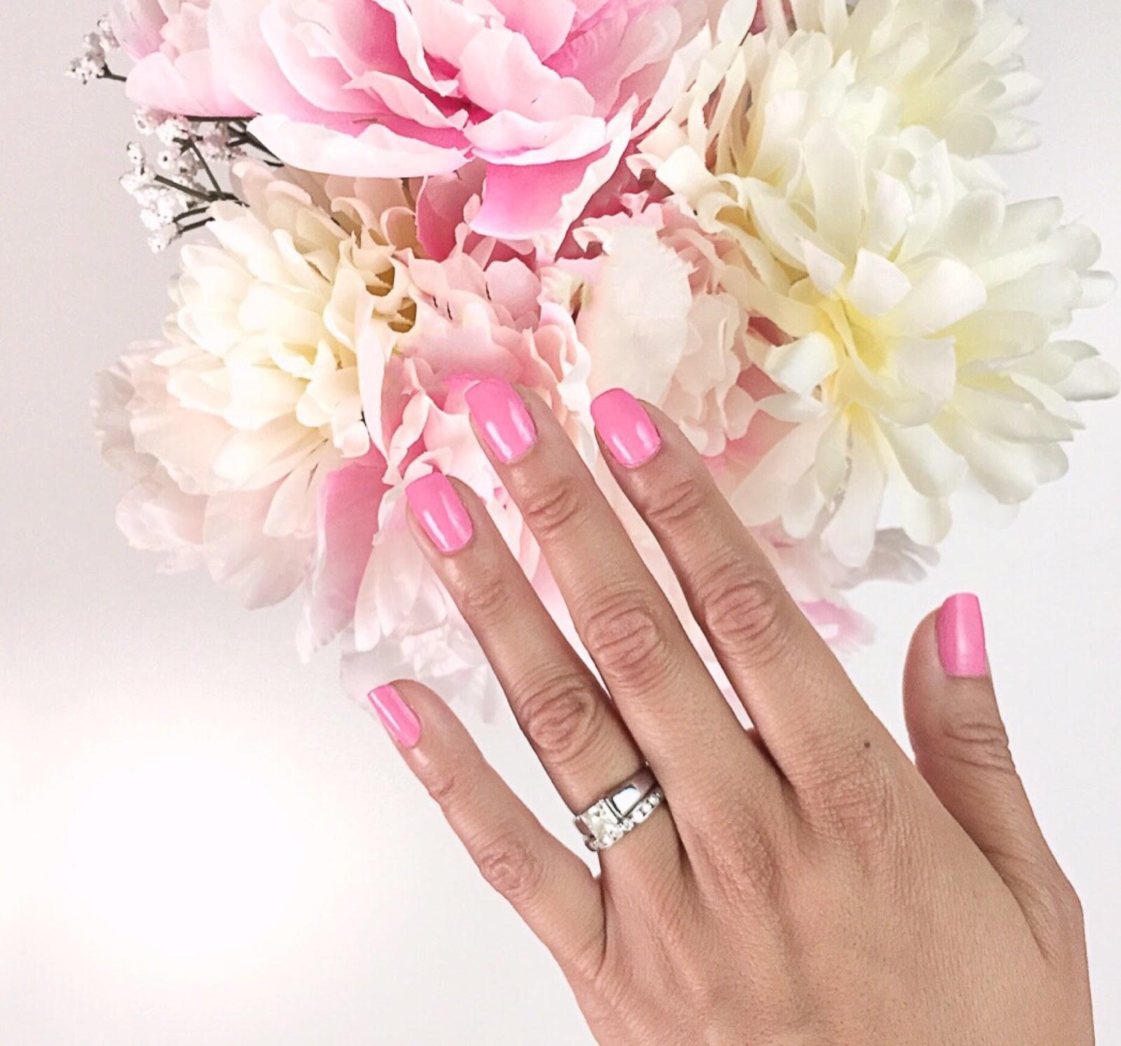 Pretty in Pink Manicure, Marilyn Monroe Spa San Diego, San Diego Manicure, San Diego Spa