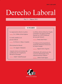 "Disponible el tercer número de la revista  ""Derecho Laboral"""