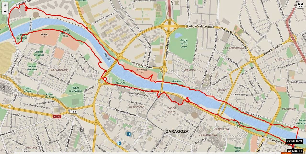 Circuito Zaragoza : Runnig en zaragoza circuito nº riberas del ebro