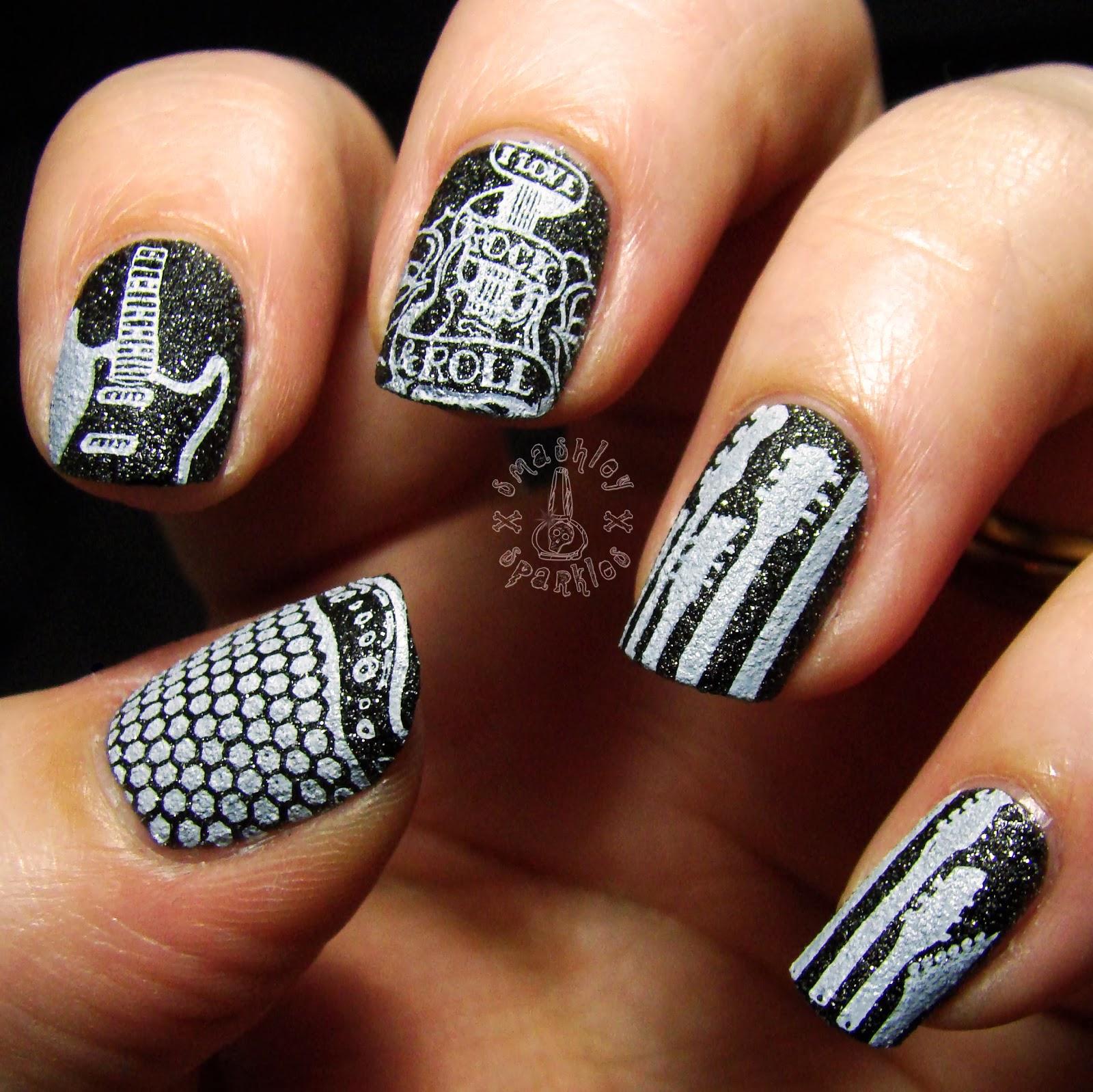Ногти в рок стиле