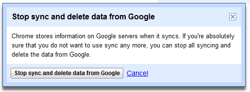 Remove Sync Data from Chrome