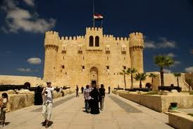 Beautiful fort of Qaitbay in Alexandria castle