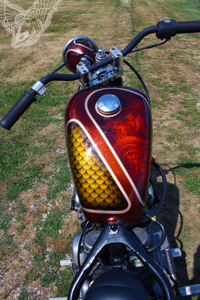 xs650 chopper - tank paint | jason sallade