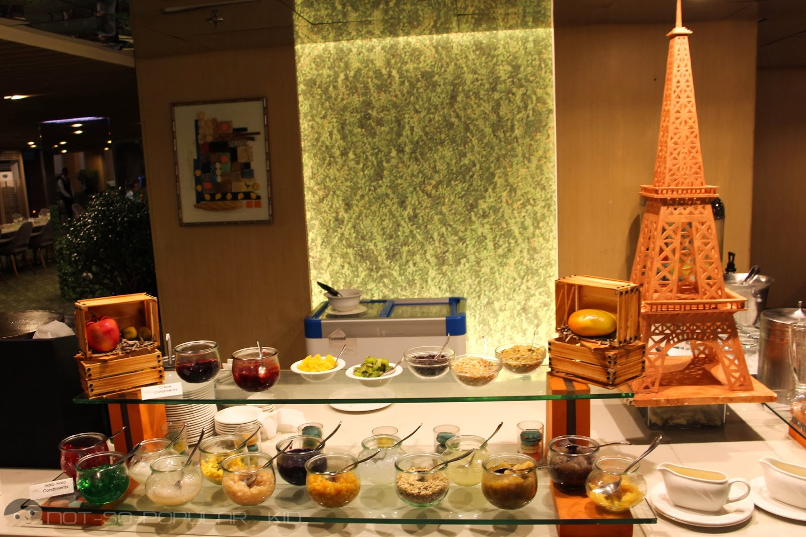 Crepe, Ice Cream and Halo-Halo Station of Midas Cafe - craft your own!