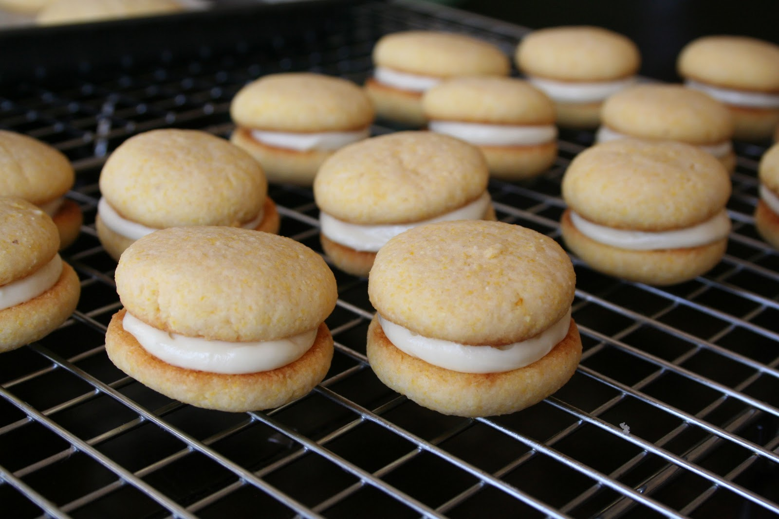 Naked Cupcakes: Lemon Cornmeal Cookie Sandwiches