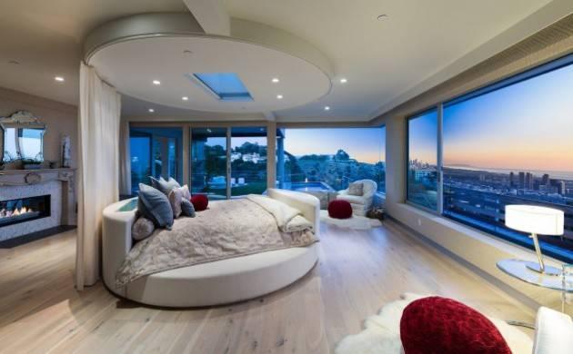 conseils déco et relooking: chambre principale:lit rond de luxe