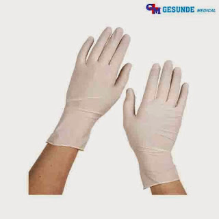 sarung tangan powder non steril latex gloves