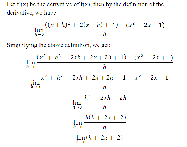derivative definition in math