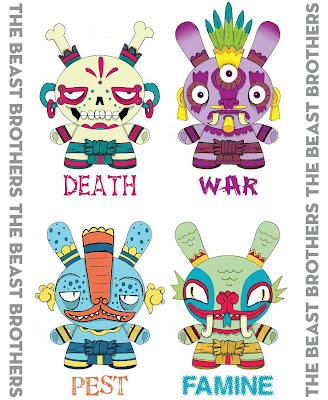 The Four Horsemen of the Dunny Apocalypse by The Beast Brothers - Death, War, Pest & Famine