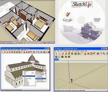 Google sketchup version 8 for 3d modelling Google 3d software
