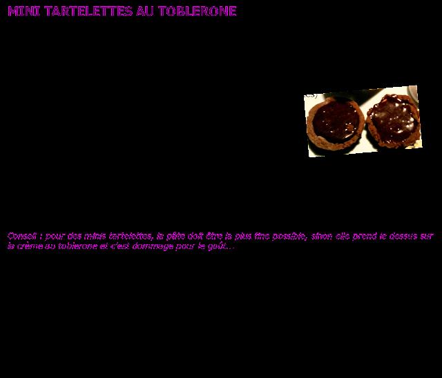 image Recette tartelettes au Toblerone