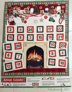 Country Christmas Advent Calendar 107, Makower UK