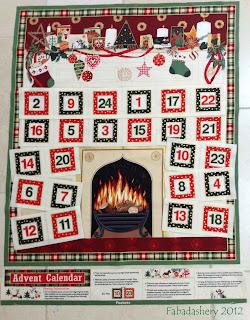 Country Christmas Advent Calendar 107, Makower UK