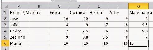 Como mudar a largura de uma linha do Excel
