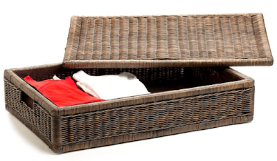 wicker under-bed storage box