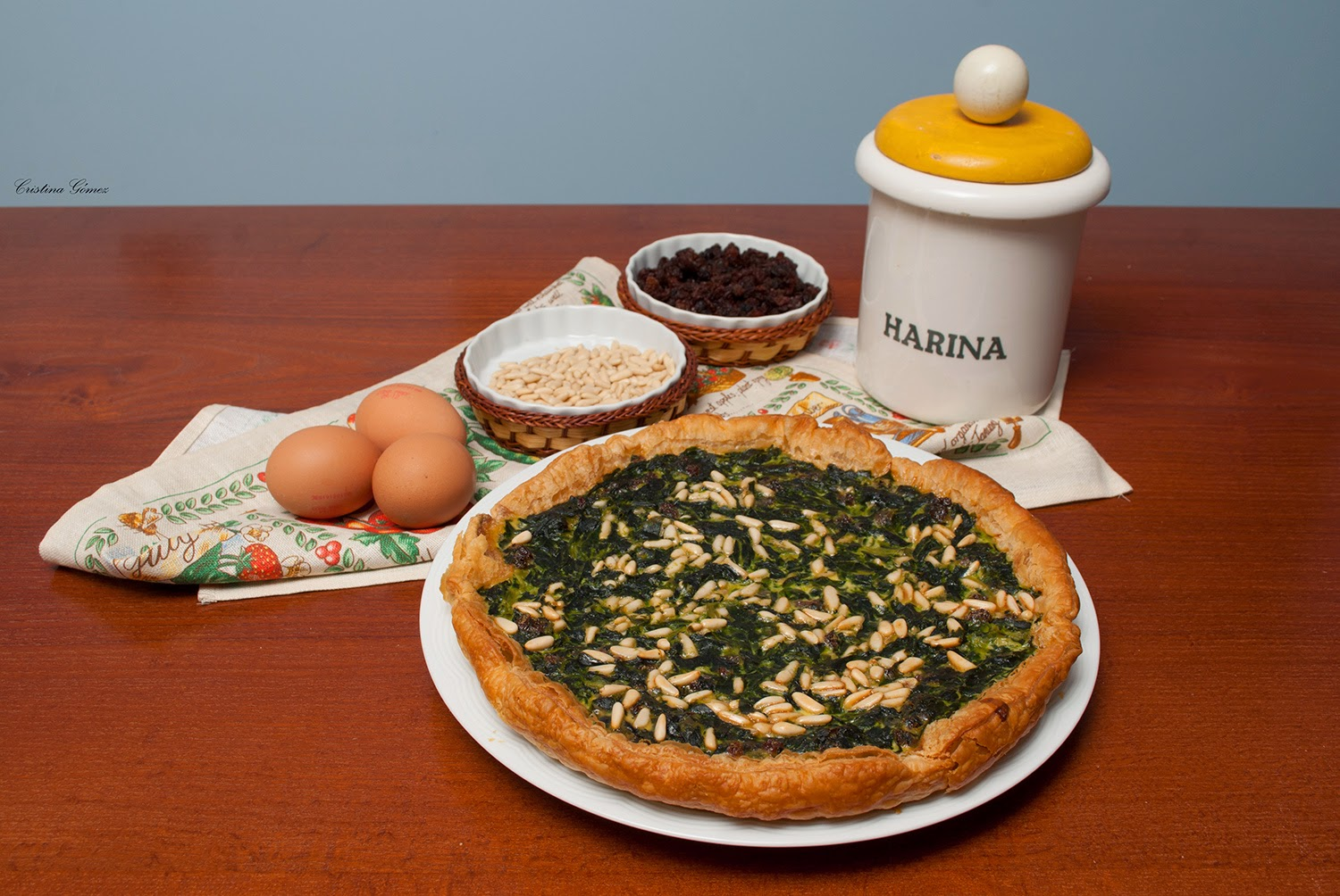 Mondays We Cook: Spinach, Raisin, and Pine Nut Quiche