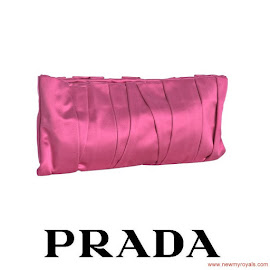 Crown Princess Mette-Marit Style PRADA Cherry Clutch Bag