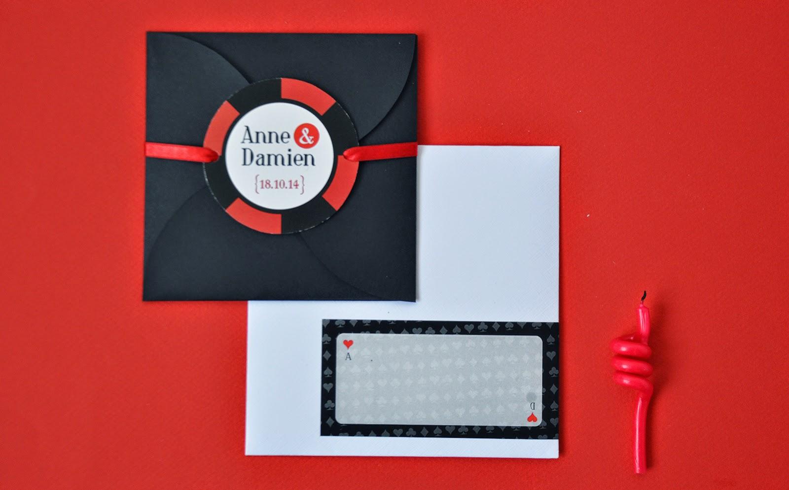 arr te de r ver faire part l 39 invitation casino pour les 10 ans de mariage de damien aur lie. Black Bedroom Furniture Sets. Home Design Ideas