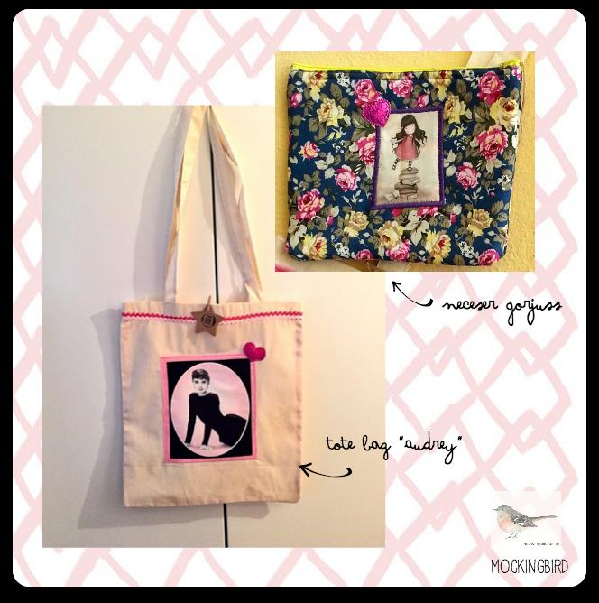 sorteomolon2 con la realidad en los talones - mpckingbird tote bag audrey and neceser gorjuss handmade
