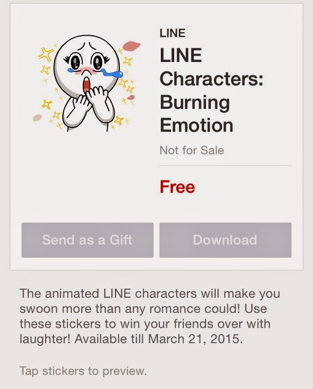 LINE Characters: Burning Emotion sticker