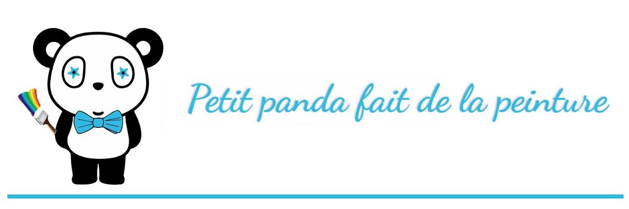 Petit Panda fait de la peinture