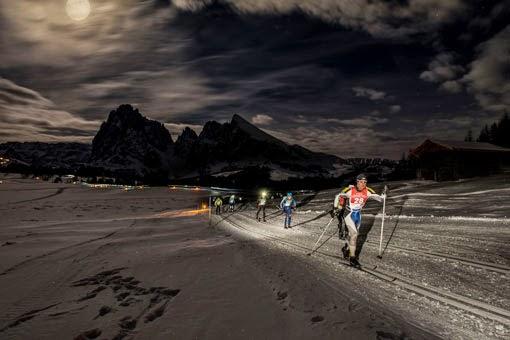 Moonlight Classic Langlaufrennen bei Vollmond