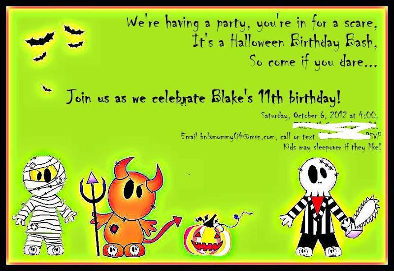 Halloween Invite Ideas is beautiful invitation ideas