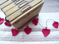 rustic heart garland