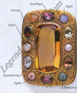 RARE BEAUTY -This 19th-century gold box is set with a superb rare citrine surrounded by a garnet, an amazonite, two pearls, two aquamarines, three agates, and three amethysts
