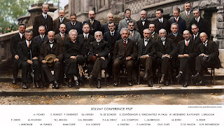 Conferencia de Solvay, 1927. Albert Einstein, Niels Bohr, Marie Curie, Erwin Schrödinger, Werner Heisenberg, Pauli Wolfgang, Paul Dirac, Louis de Broglie