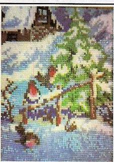 Вышивка бисером зимний пейзаж
