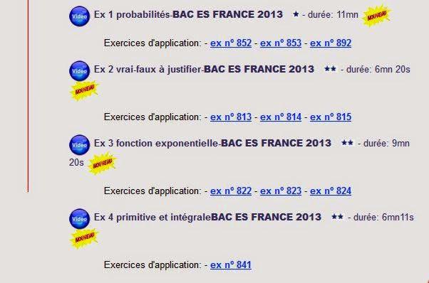 sujet BAC ES 2013