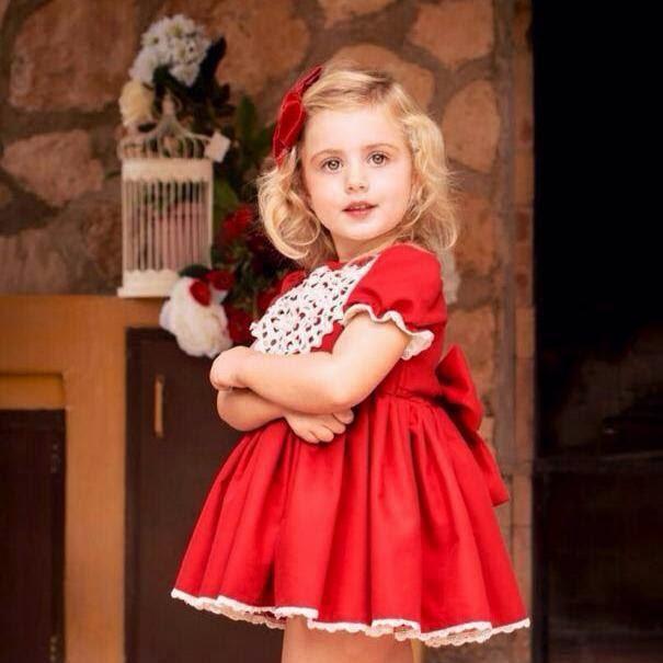 Como vestir a los niños en Navidad - vestido rojo la amapola
