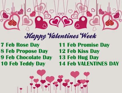 Valentines day week List 2016