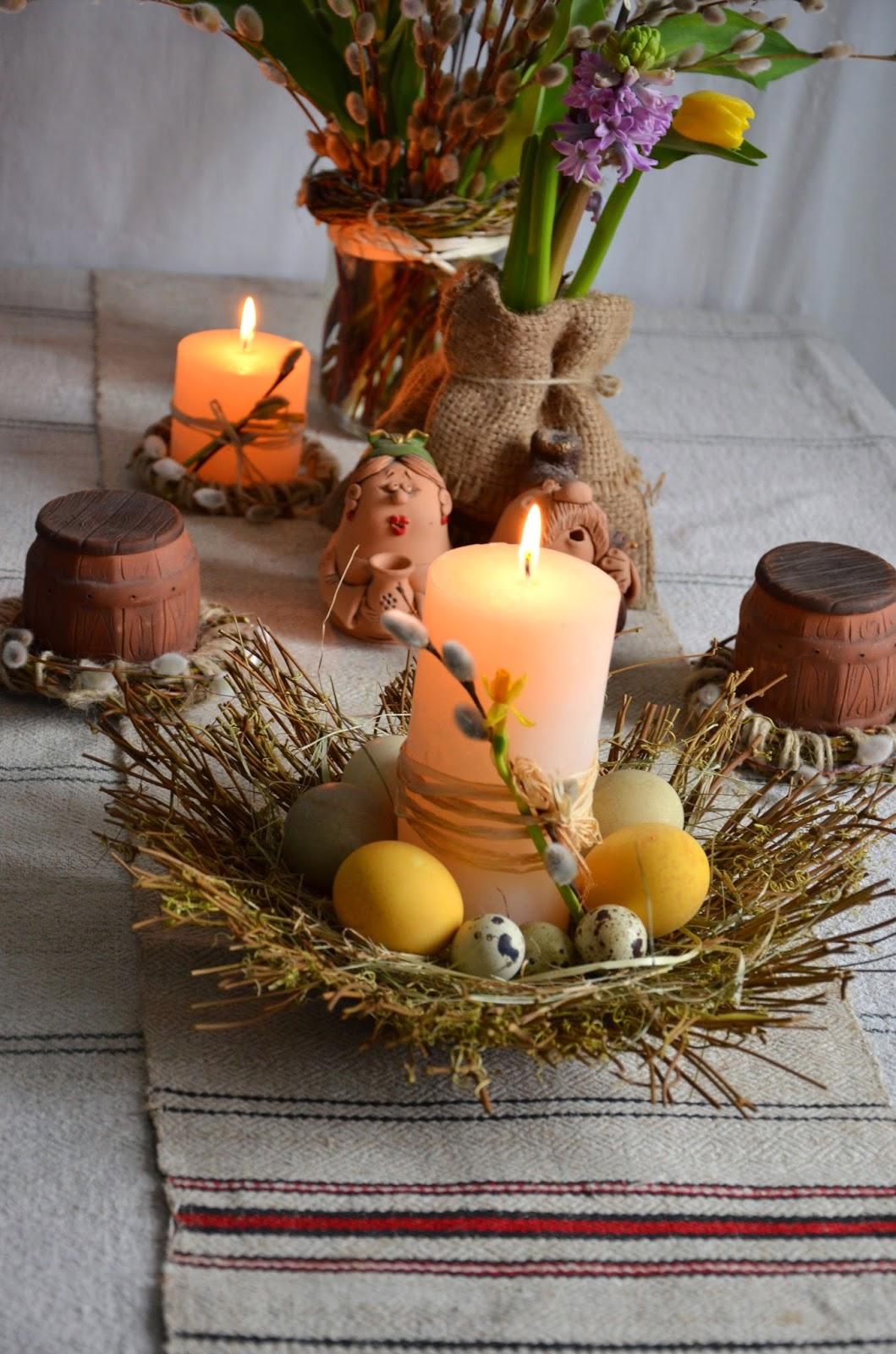 пасхальный декор стола