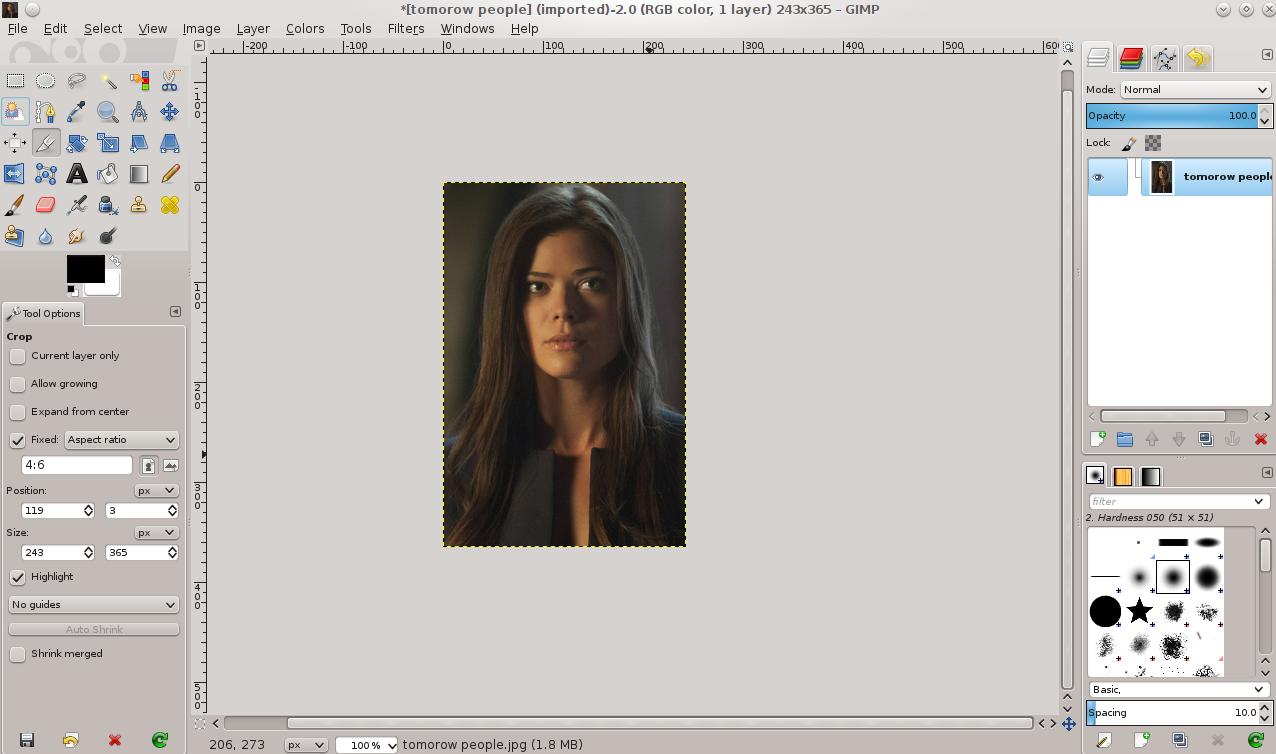 Cara Meng Crop Gambar Dengan Ukuran Tertentu di GIMP