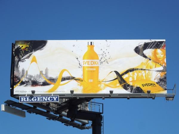 Svedka Citron Vodka billboard