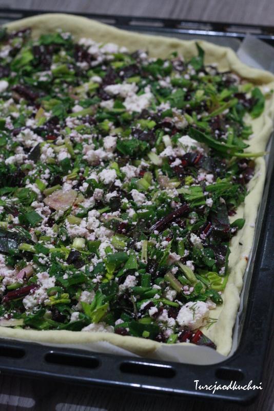 Domowy borek z zielenina i serem / Otlu borek