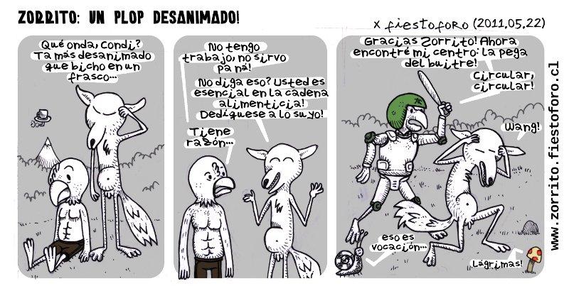 Caricatura de Zorrito: Condoriplop