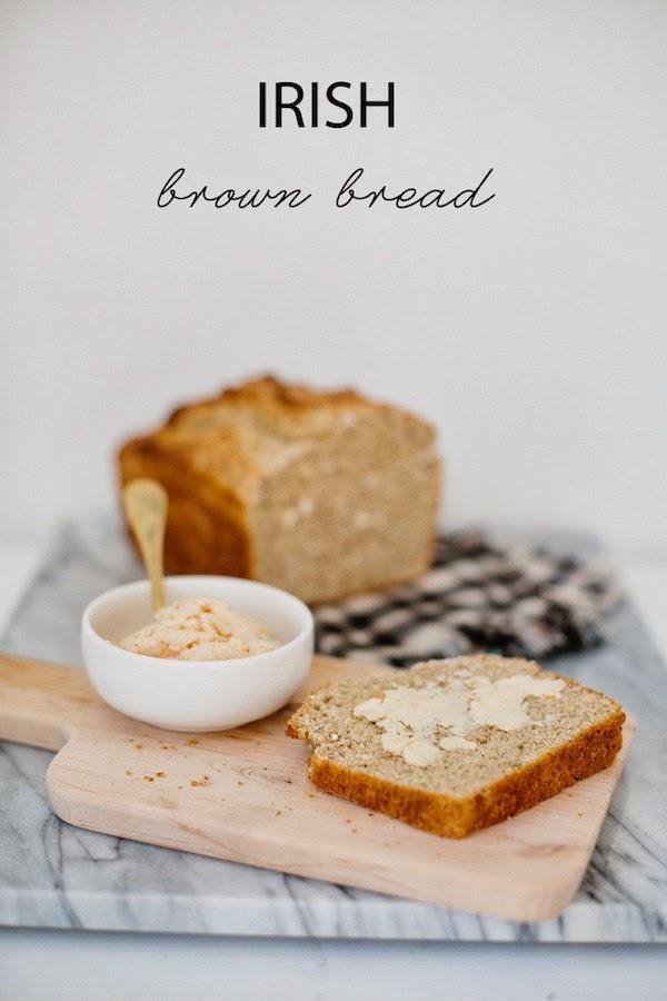 Irish Brown Bread With Blood Orange Honey Butter